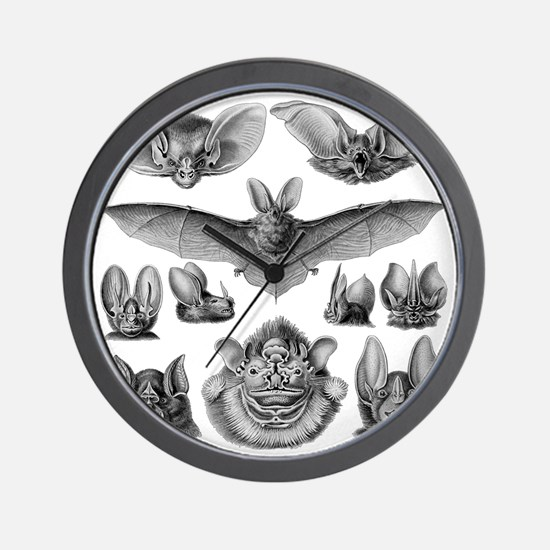 Vintage Bat Illustrations Wall Clock