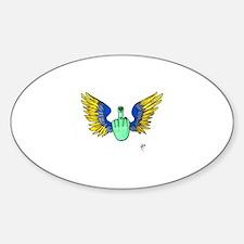 Freebird Oval Sticker (B&W)