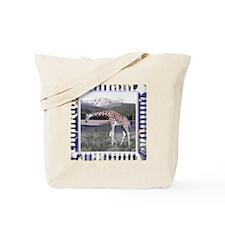 Framed African Giraffe  Tote Bag