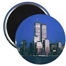 "Twin Towers - 2.5"" magnet"