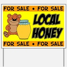 Honey For Sale Bear Yard Sign