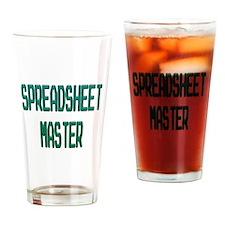 Spreadsheet Master Drinking Glass