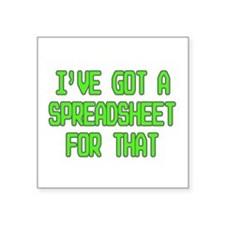 Spreadsheet Sticker