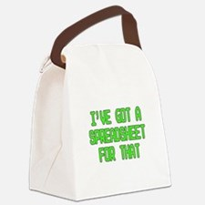 Spreadsheet Canvas Lunch Bag
