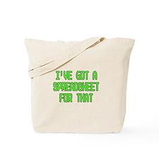 Spreadsheet Tote Bag