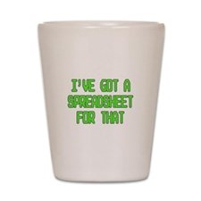 Spreadsheet Shot Glass