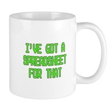 Spreadsheet Mugs