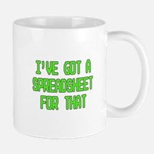 Spreadsheet Mugs