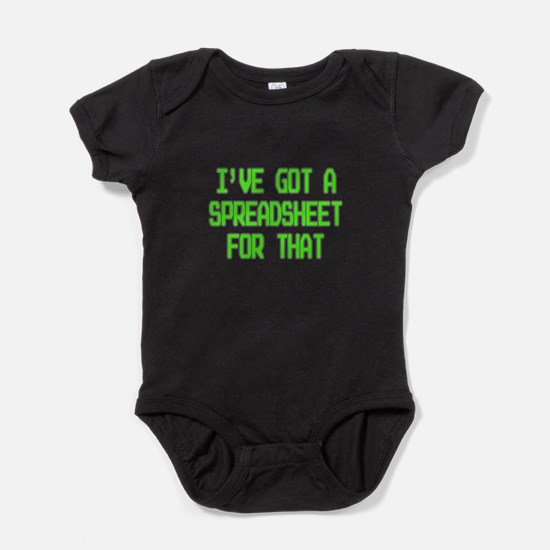Spreadsheet Baby Bodysuit