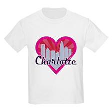 Charlotte Skyline Sunburst Heart T-Shirt