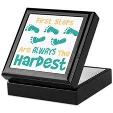 First Steps Are Always The Hardest Keepsake Box