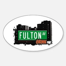 Fulton Av, Bronx, NYC Oval Decal