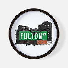 Fulton Av, Bronx, NYC Wall Clock