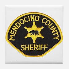 Mendocino County Sheriff Tile Coaster