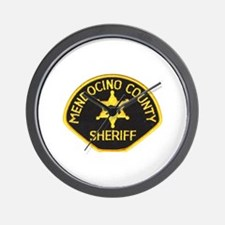 Mendocino County Sheriff Wall Clock