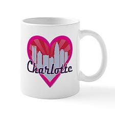 Charlotte Skyline Sunburst Hearts Mugs