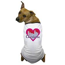 Charlotte Skyline Heart Dog T-Shirt