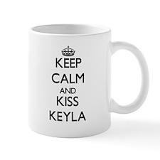 Keep Calm and kiss Keyla Mugs