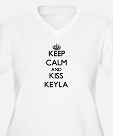 Keep Calm and kiss Keyla Plus Size T-Shirt