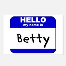 hello my name is betty  Postcards (Package of 8)