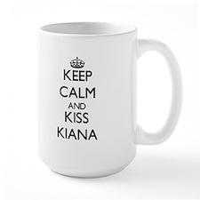 Keep Calm and kiss Kiana Mugs