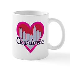 Charlotte Skyline Hearts Mugs