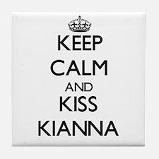 Keep Calm and kiss Kianna Tile Coaster