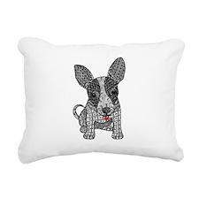 Alert - Chihauhua Rectangular Canvas Pillow