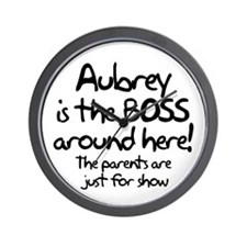 Aubrey is the Boss Wall Clock