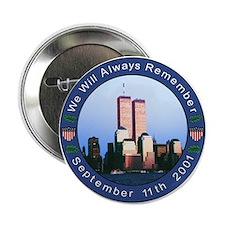 September 11th Memorial Button 9/11