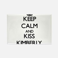 Keep Calm and kiss Kimberly Magnets
