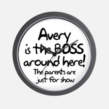 Avery is the Boss Wall Clock
