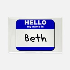 hello my name is beth Rectangle Magnet
