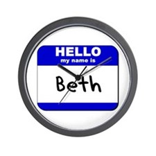 hello my name is beth  Wall Clock