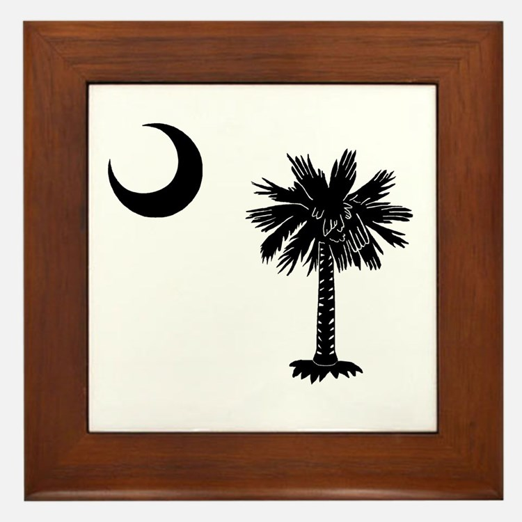 South Carolina Palmetto Framed Tile