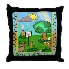 """""""Revenge of the Deer"""" Throw Pillow"""