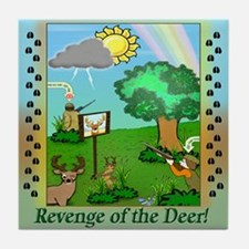 """""""Revenge of the Deer"""" Tile Coaster"""