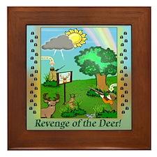 """""""Revenge of the Deer"""" Framed Tile"""