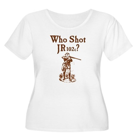 Who Shot JR102c Women's Plus Size Scoop Neck T-Shi