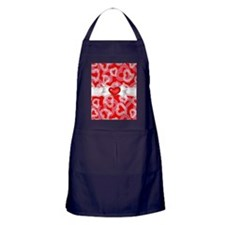 Red Lace Hearts Apron (dark)