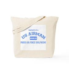 Proud Air Force Girlfriend Tote Bag
