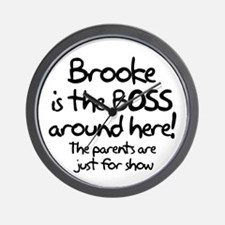 Brooke is the Boss Wall Clock