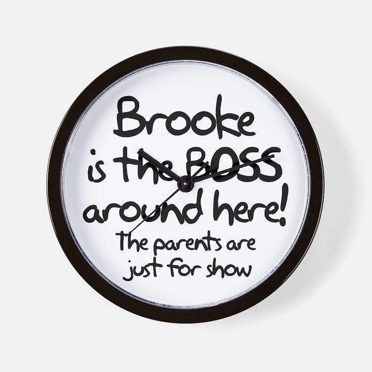 Brooke is the Boss Wall Clock