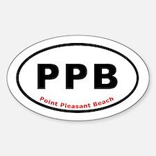 Point Pleasant Beach Oval Eur Oval Decal