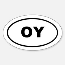 OY Euro Oval T-shirts Oval Decal