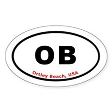 Ortley Beach NJ Tee Oval Decal
