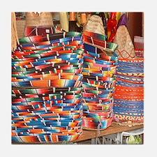 Mexican Beautiful bright colo Tile Coaster