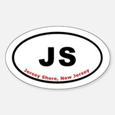 Jersey Shore Euro Oval T-shir Oval Decal
