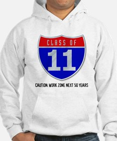 Class of 11 Road Sign Hoodie