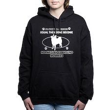 Norwegian Elkhound dog breed des Hooded Sweatshirt